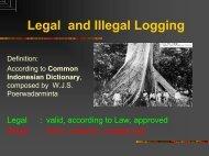 Legal and Illegal Logging