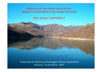 Scarica la presentazione - Giorgio Temporelli