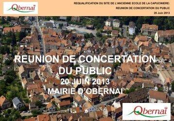 REUNION DE CONCERTATION DU PUBLIC