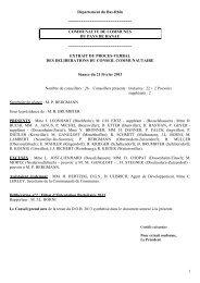 1 Département du Bas-Rhin - Communauté de Communes du Pays ...