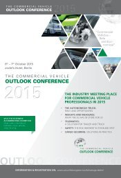 Outlook Conference Commercial Vehicles 2015