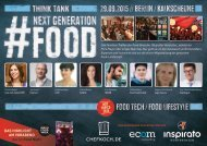 Think Tank NEXT GENERATION FOOD 2015