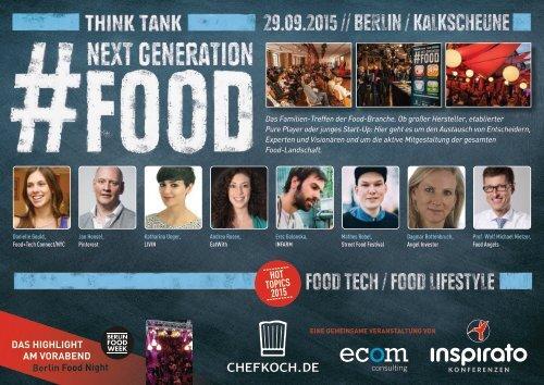 Think Tank NEXT GENERATION FOOD 2015