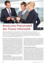 Rund ums Preismodell der  Finanz Informatik