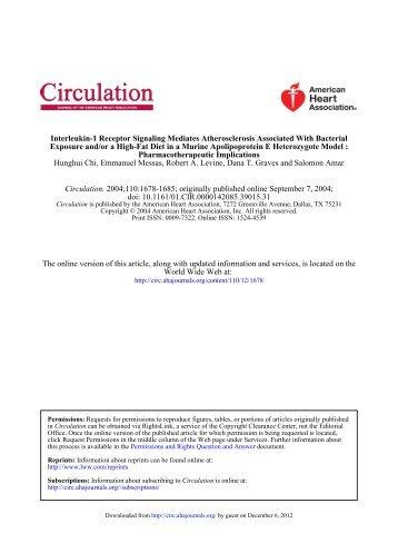 Interleukin-1 Receptor Signaling Mediates ... - Circulation