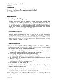 Grundsätze über die Förderung der Jugendverbandsarbeit in Berlin