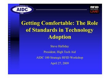 Getting Comfortable The Role of Standards in Technology Adoption