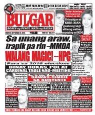 September 8, 2015 BULGAR: BOSES NG MASA, MATA NG BAYAN