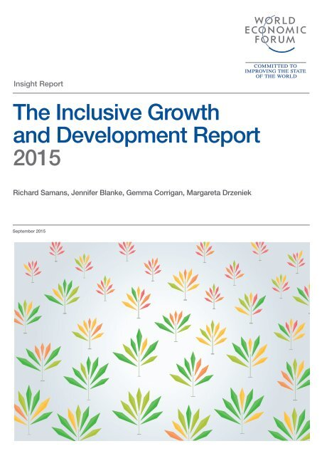 The Inclusive Growth and Development Report 2015