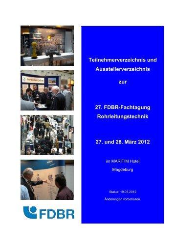 Teilnehmerverzeichnis und Ausstellerverzeichnis zur 27. FDBR ...