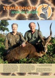 Newsletter for 2010 - Tomkinson African Safaris