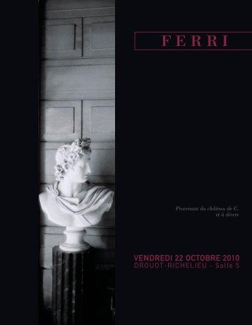 VENDREDI 22 OCTOBRE 2010 - Drouot