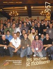 volume 1, no 1, hiver 2010 - Syndicat des technologues d'Hydro ...