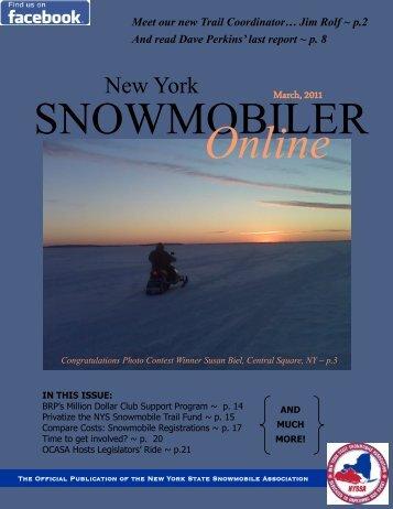 NYSSA Online Magazine - New York State Snowmobile Association