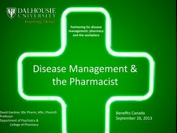 Disease Management & the Pharmacist