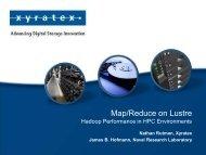 Map/Reduce on Lustre - Xyratex