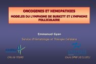 ONCOGENES ET HEMOPATHIES