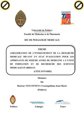Université de Poitiers Faculté de Médecine et de ... - FMC de Tours