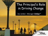 in Driving Change