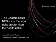 NES – are the legal risks greater than the health risks?