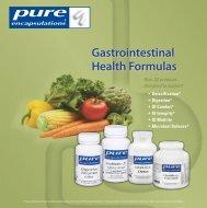 Gastrointestinal Health Formulas