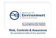 Risk Controls & Assurance