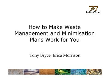 How to Make Waste Management and Minimisation Plans Work for You