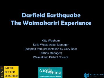Darfield Earthquake The Waimakariri Experience