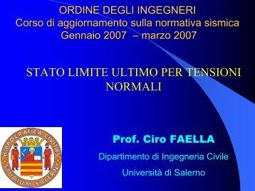 Prof. Ciro Faella - Ordine degli Ingegneri della provincia di Napoli