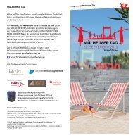 MÜLHEIMER TAG 2015 Programm