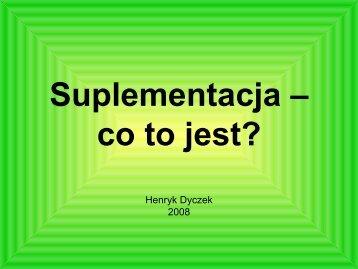 Suplementacja – co to jest?