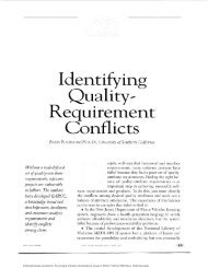 IDENTIFYING QUALITY REQUIREMENT CONFLICTS - IEEE Software