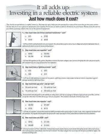 equipment quiz - Lake Country Power