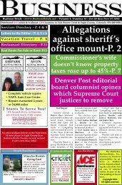 Allegations against sheriff's office mount-P. 2 - BusinessBriefs.net