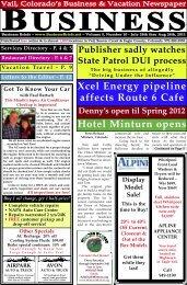 Xcel Energy pipeline affects Route 6 Cafe - BusinessBriefs.net