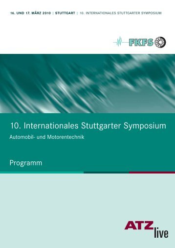 10. Internationales Stuttgarter Symposium - FKFS