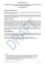 CSSF CIRCULAR 11/521 Professional obligations in terms of ... - IRE