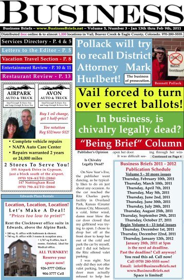 Vail forced to turn over secret ballots!