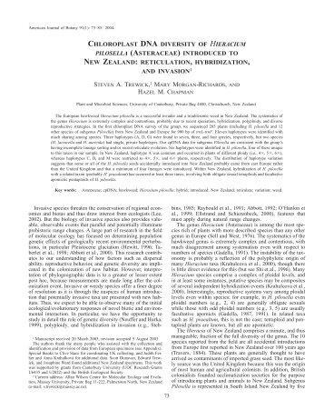 reticulation, hybridization - American Journal of Botany