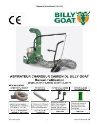 ASPIRATEUR CHARGEUR CAMION DL BILLY GOAT Manuel d'utilisation