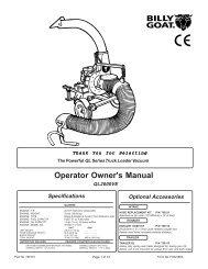 Operator Owner's Manual