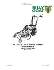 BILLY GOAT HIGH WHEEL MOWER Owner's Manual