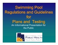 Swimming Pool Regulations and Guidelines for Plans and Testing