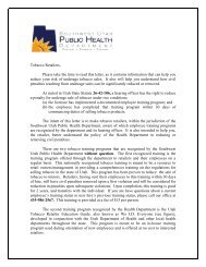 Tobacco Retailers, Please take the time to read this letter, as it ...