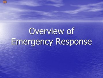 Overview of Emergency Response