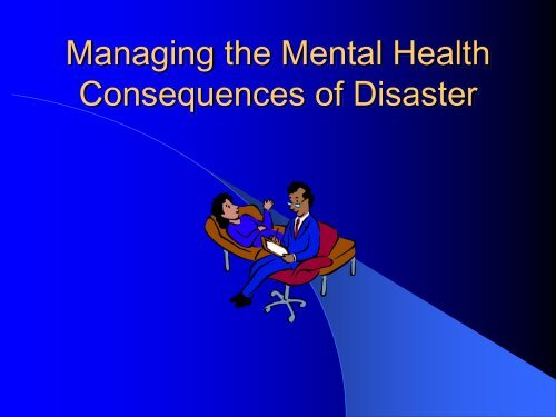 Consequences of Disaster