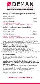 Preisliste - Übersetzungen Übersetzungsbüro Deman Düsseldorf - Seite 2