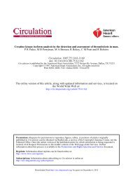 Creatine kinase isoform analysis in the detection and - Circulation