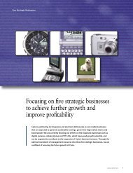 Focusing on five strategic businesses to achieve further ... - Casio