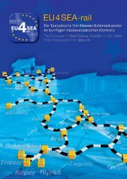 2 - Der Europäische Vier-Meeres-Schienenkorridor verbindet